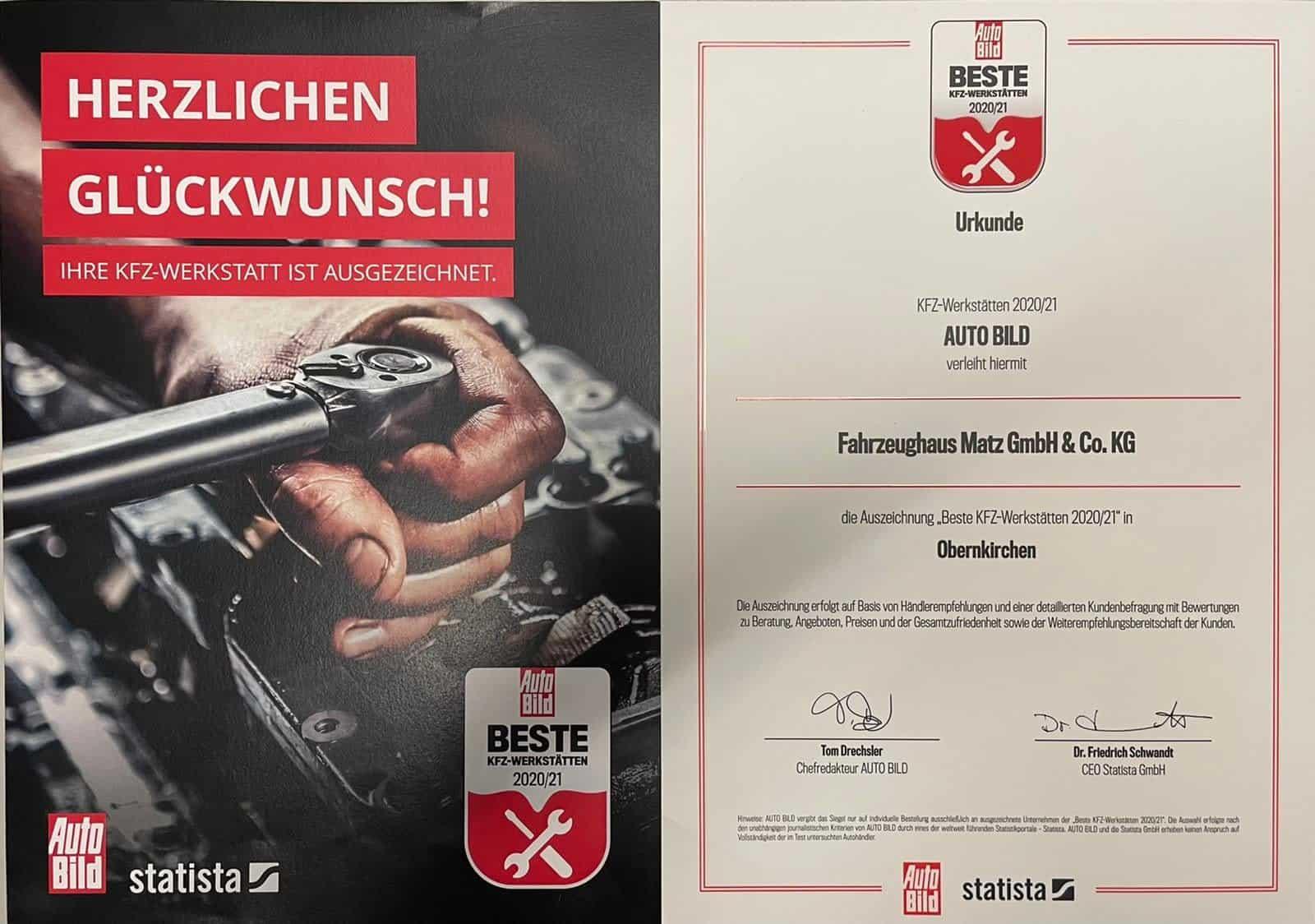 Auszeichnung AutoBild