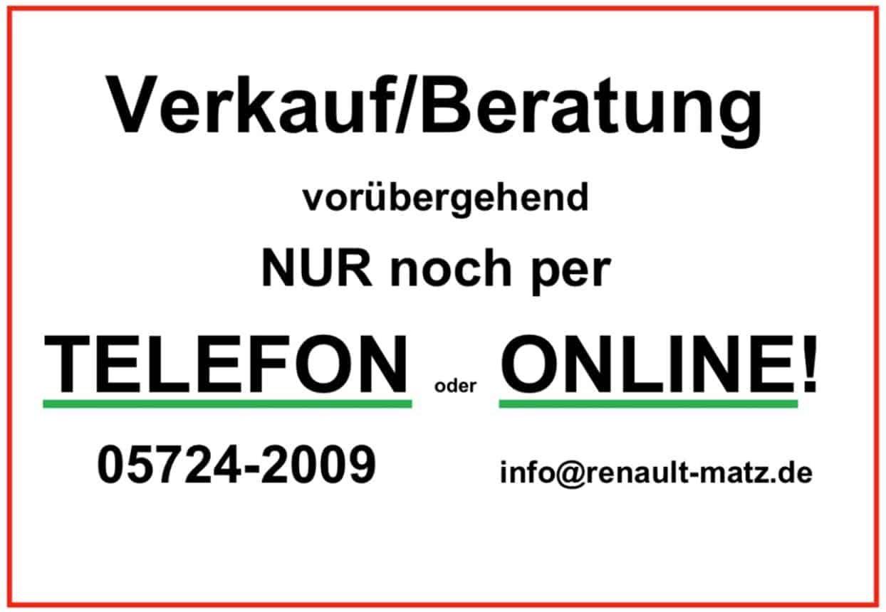 Verkauf NUR noch Online!